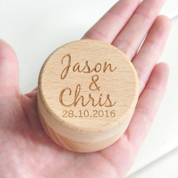 personalisierte ringbox holz gravur