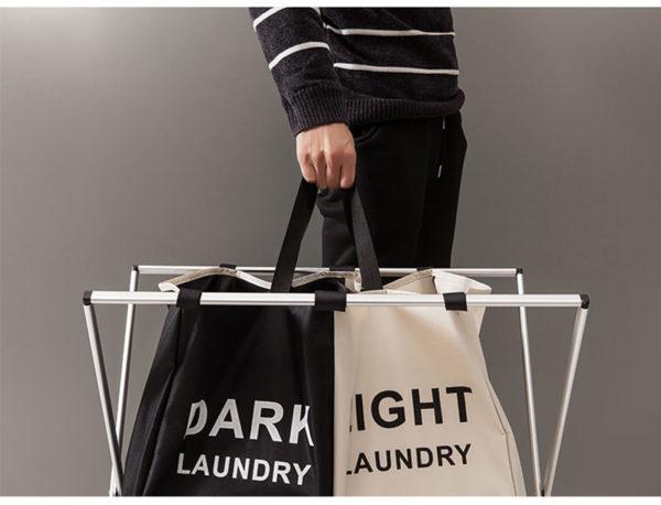Wäschesammler wäschesortierer dark light color Wäsche badezimme